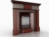 欧式现代风格壁炉设计3D模型素材