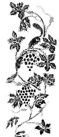 叶构成的图案 下载 中国吉祥图案-牡丹花枝 叶和凤凰构成的图案 下载