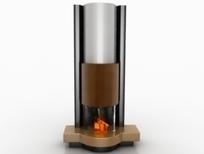 现代简约风格壁炉设计3D模型素材