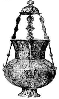 阿拉伯字纹藤蔓纹顶盖莲瓣纹钩链纹构成的器物