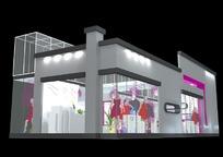 服装展厅3d模型设计
