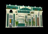 古典欧式展厅3d模型设计