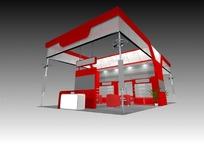 红色展厅max模型