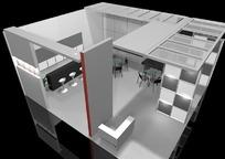 灰色珠宝展厅3d模型设计