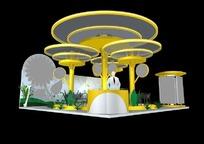 蘑菇状异型展厅3d模型设计