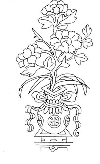 花瓶简笔画图 青花瓷花瓶简笔画 花瓶里的花简笔画 花瓶花简笔画