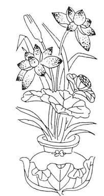 莲叶坛子的魔法里练字的荷花与形状小学生花瓶盛开板图片