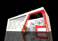 现代时尚展厅3d模型设计