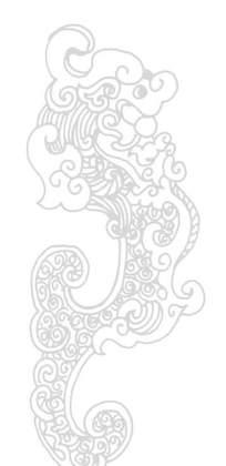 中国古典图案-卷曲纹的抽象的龙纹构成的精美图案
