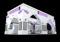 紫色欧式展厅3d模型设计