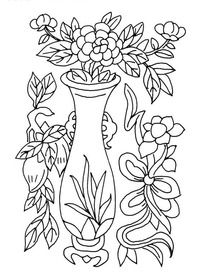 hi,您正在下载《矢量手绘花瓶花朵插画线条》