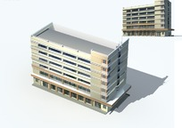 时尚现代风格高档办公写字楼3D模型素材