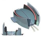 时尚现代风格高档体育会议场馆3D模型素材