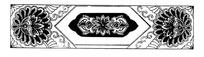 传统对称荷花横纹纹样
