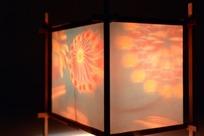 方形纸灯笼的花朵纹饰