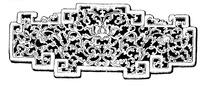 拐龙纹凹凸边框缠枝纹装饰的古代器物图案