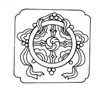 中国古典吉祥图案-花角方图法轮纹