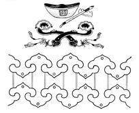 矢量手绘中国古代元素图形