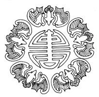 中国传统蝙蝠寿字图案