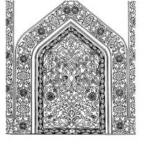 缠枝花纹装饰的上三角下方图形精美图案