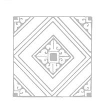 菱形纹卷曲纹方口纹构成的对称花纹方图