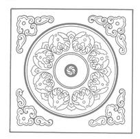 中国传统方形花纹