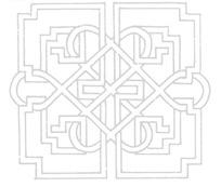 中国古典图案-交缠的曲线和直线构成的图案图片