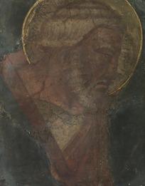 男人头像的欧洲壁画