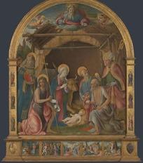 欧洲油画耶稣诞生