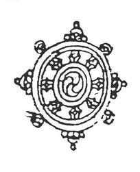 中国古典图案-法轮纹吉祥图案