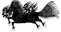 中国古典图案-飞奔的马和火纹