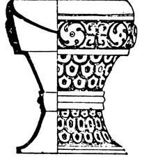 涡纹重环纹装饰的掐腰古器图案