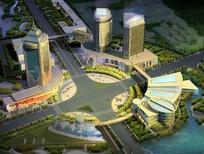高层公共建筑城市规划效果图