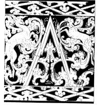 古典花纹与祥云和两只神鹿黑白矢量图案