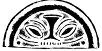 中国古典图案-几何形构成的斑驳模糊的半圆形图案