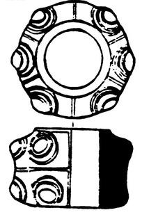 环形圆形几何线条构成的古器纹理图