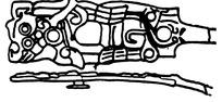 环形圆形几何线条构成的如意形古器纹理图