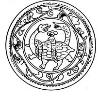 古代玄武纹圆形图案素材