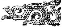 矢量斑驳龙鳞的中国古典龙纹图案