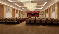 宏伟庄重会议礼堂设计效果图