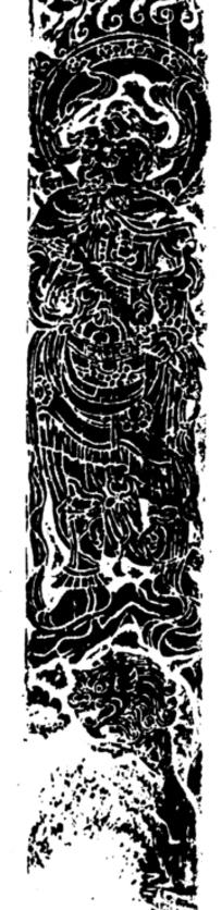 火纹兽纹环纹几何纹盛装人物构成的模糊竖图