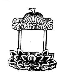 中国传统荷花亭子