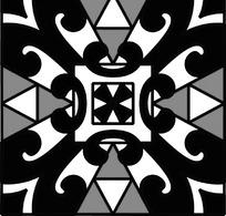 中国传统几何对称花纹图案