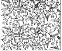 缠枝花草纹构成的线描花纹背景矢量图