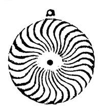 中国古典图案-放射状曲线构成的斑驳的图案图片