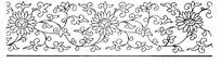 古代黑白花型纹路边框纹样图案矢量素材