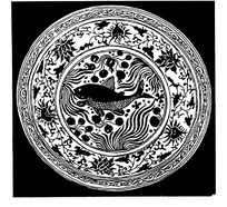 zhongguoyijisheqingpian_中国古典图案-藤蔓上的卷曲的叶子构成的花边