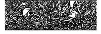 古代黑白花鸟纹边框纹样图案矢量素材