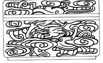 传统龙纹图案矢量素材