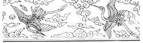 传统仙鹤边框纹样图案矢量素材